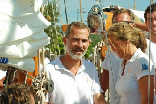 Felipe VI, este sábado en Mahón.