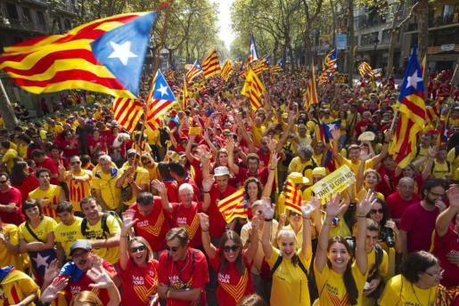 Imagen de la Diada de Cataluña del año 2017.
