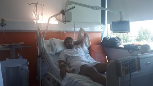 Daniel, de 45 años, permaneció ocho días ingresado en el hospital de Son Espases.