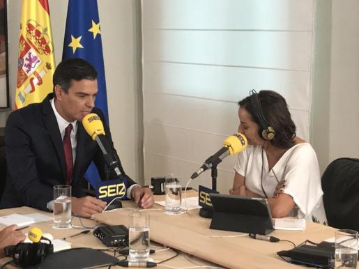 Pedro Sánchez, durante la entrevista en la Cadena Ser.