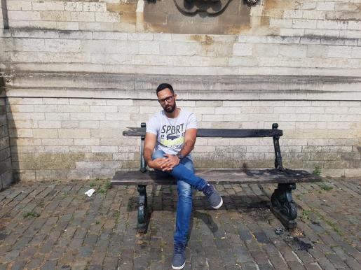 Valtonyc, en una imagen reciente en Bruselas.