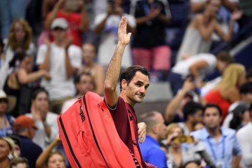 Roger Federer se despide del US Open.