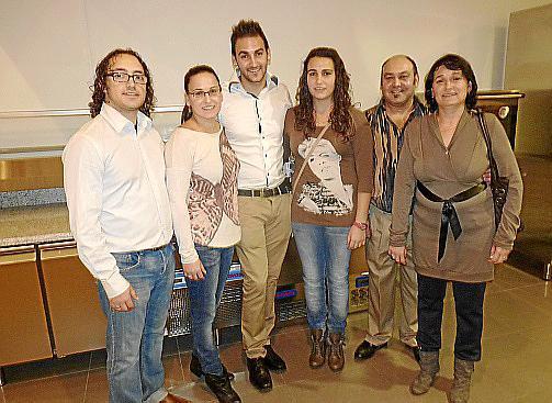 Rubén Caballero, Rocío, Antonio Jesús, Noelia y Antonio Lucena y Julia Portillo.