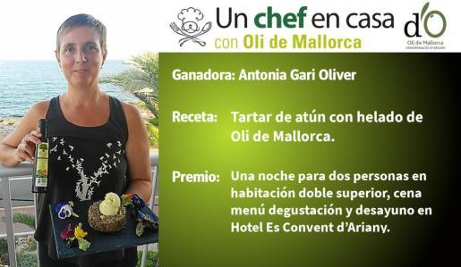 Antonia Garí Oliver ha sido la ganadora de la edición 2018 del concurso gastronómico 'Un chef en casa'.