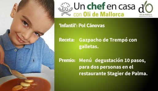 Pol Cánovas ha sido el finalista a la receta 'Infantil'.