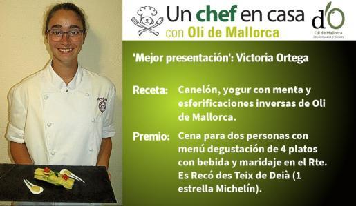 Victoria Ortega ha sido la finalista a la receta con 'Mejor presentación'.