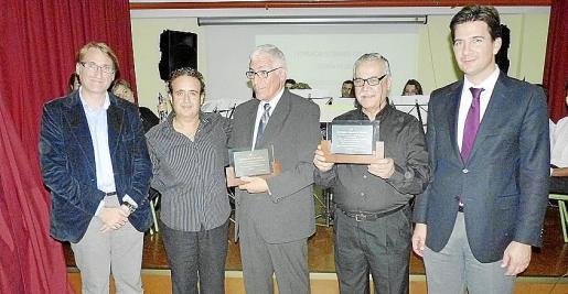 Mariano Menalla, Eduardo Bernabeu -director de la banda de Son Rapinyá-, Pascual Martínez, Antonio Anguita y Fernando Gilet.