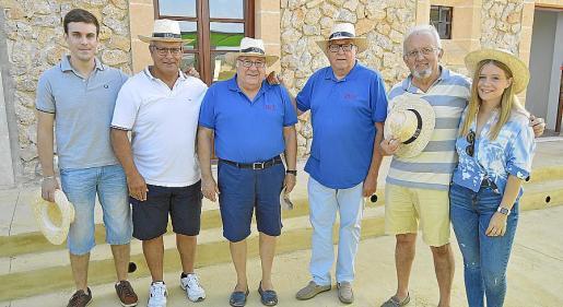 Miquel Àngel Prats, Tolo Prats, Mariano Portas, Pep Matas, Pep Martínez y Catalina Prats.