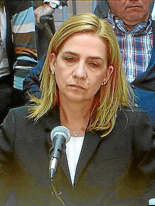 La Infanta Cristina, en un momento de su declaración ante el tribunal del 'caso Nóos'.