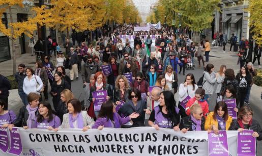 Imagen de archivo de una concentración de rechazo a la violencia machista.