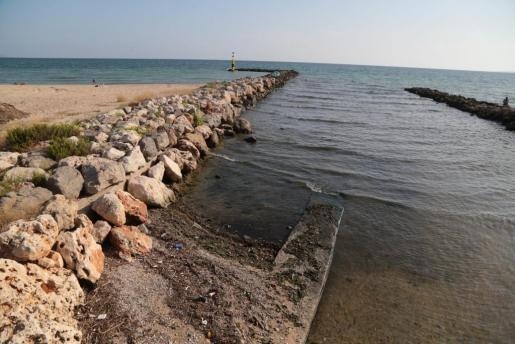 Las playas de Can Pere Antoni y Ciudad Jardín han sido cerradas en varias ocasiones esta temporada con motivo de vertidos.