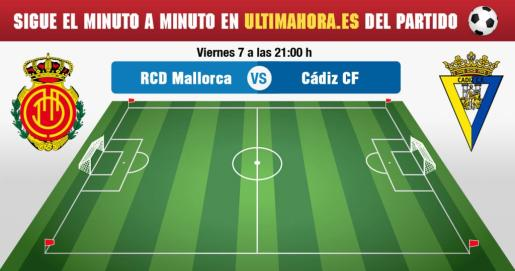 Real Mallorca-Cádiz, en directo.