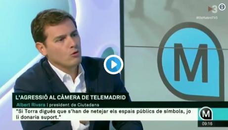 Albert Rivera durante su intervención en el programa 'Els Matins' de TV3.