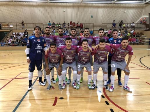 La formación del Palma Futsal previa al inicio del partido ante ELPozo Murcia.
