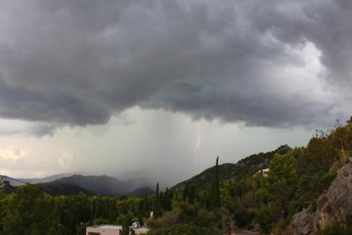 Imagen de temporal en Mallorca.