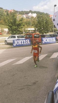 Tolo Fiol, en plena carrera de los 100 kilómetros disputada este sábado en Croacia.