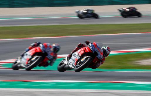 Imagen de Jorge Lorenzo en acción durane el Gran Premio de San Marino.