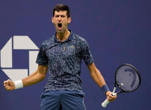 Djokovic, tras vencer a del Potro.