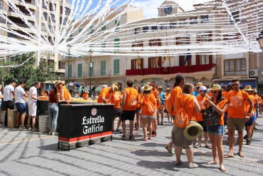 Imagen de una anterior edición de esta fiesta en el centro de la ciudad 'inquera'.