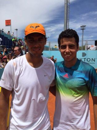 Los mallorquines Rafael Nadal y Jaume Munar tras realizar un entrenamiento.