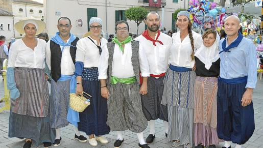 Catalina Campomar, Jaime Campomar, Antònia Grimalt, Pep Florit, Joan Font, Maribel Rechach, Magdalena Rosselló y Pere Moragues.