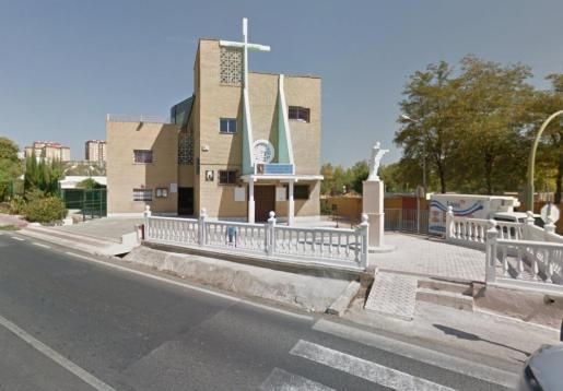 Imagen de la parroquia en la que tuvo lugar el trágico fallecimiento.