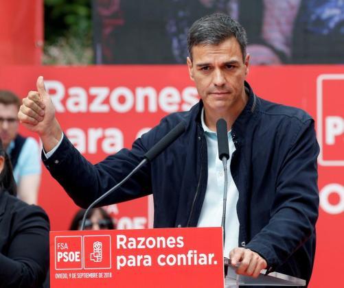 GRAF9031. OVIEDO, 09/09/2018.- El presidente del Gobierno, Pedro Sánchez.