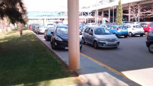 Vista de la zona de aparcamiento de Son Espases.