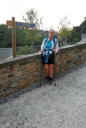 A pesar de la dureza de algunos de sus tramos, Lynne sigue haciendo el Camino.