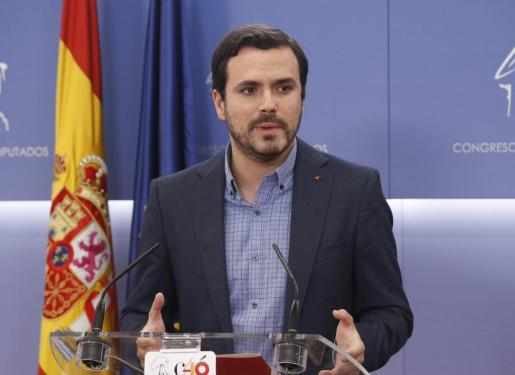 El portavoz parlamentario de Izquierda Unida, Alberto Garzón.