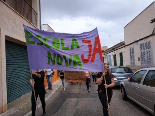 Imagen de la movilización en Porto Cristo.