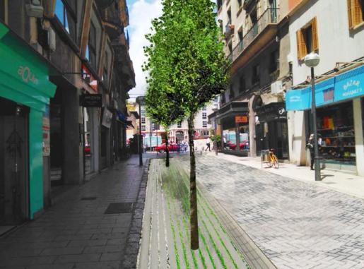 Recreación de cómo quedará la calle Velázquez.