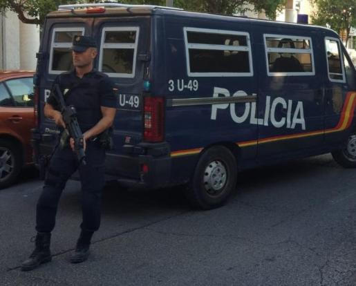 Imagen de un operativo policial en Mallorca.