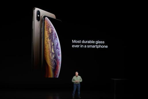 Momento de la presentación ded iPhone XS.