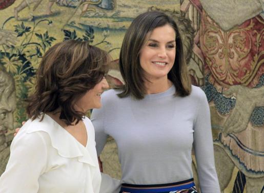 La reina Letizia recibió en audiencia en el Palacio de La Zarzuela a una representación de la Asociación Professional Women,s Network Madrid