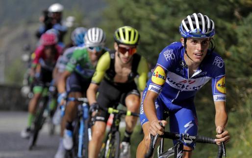 Enric Mas, en acción durante la Vuelta a España.