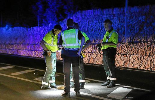 Imagen del accidente en s'Estanyol.