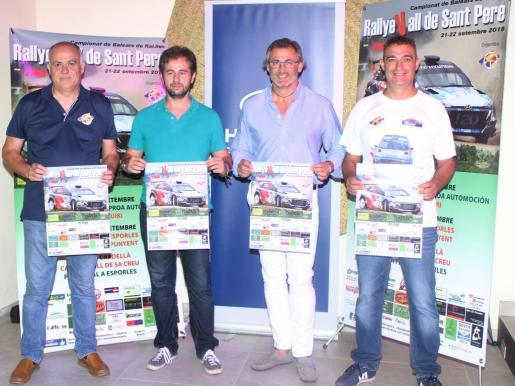 Arnau Bisquerra, Josep Oliver, Rafel Abraham y Demetrio Lladó, en la presentación de la prueba.