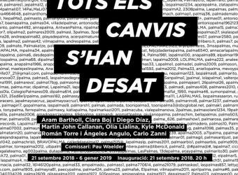 'Tots els canvis s'han desat', la exposición colectiva del Casal Solleric para esta Nit de l'Art 2018