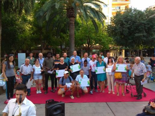 Imagen de los premiados con los Premios de Fidelidad al Transporte Público.