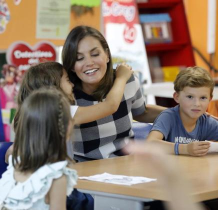 La reina Letizia ya presidió el pasado 12 de septiembre la apertura del curso escolar del colegio público Baudilio Arce, en Oviedo.