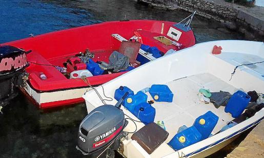 Imagen de pateras llegadas a las costas de Baleares.