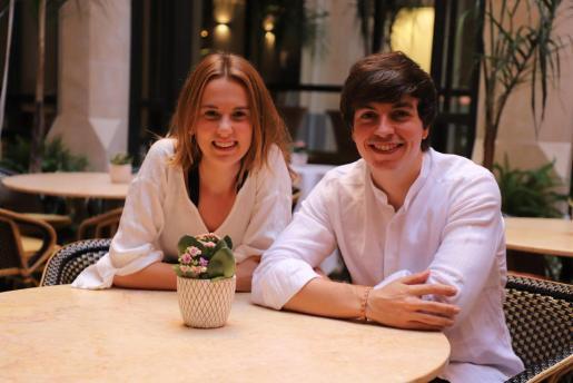 Sofía y Víctor en Palma, donde han estado de vacaciones unos días.