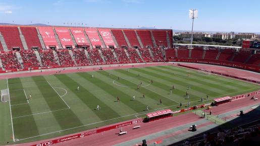 Imagen del encuentro disputado en Son Moix entre el Mallorca y el Albacete.