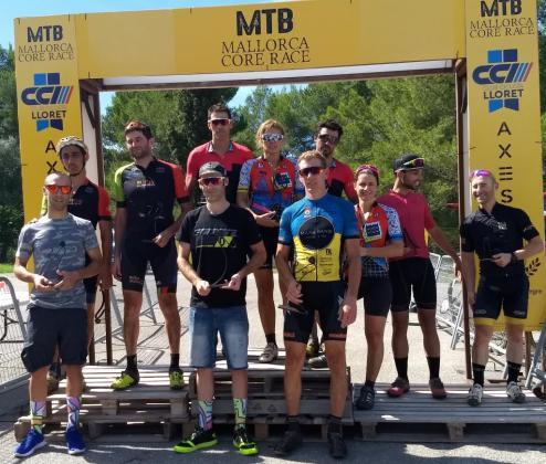 Imagen del podio de la Mallorca Core Race, disputada en Lloret de Vistalegre.