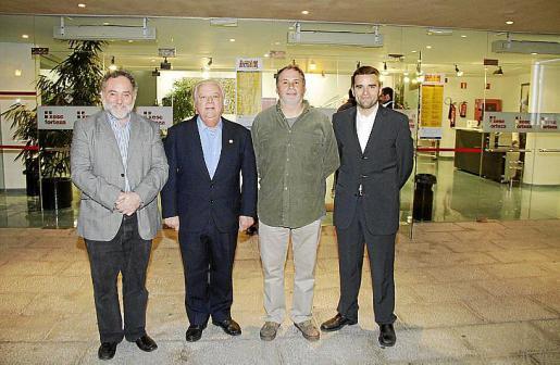 Miquel Janer, Joan Parets, Francesc Crespí y Joan Rosselló.