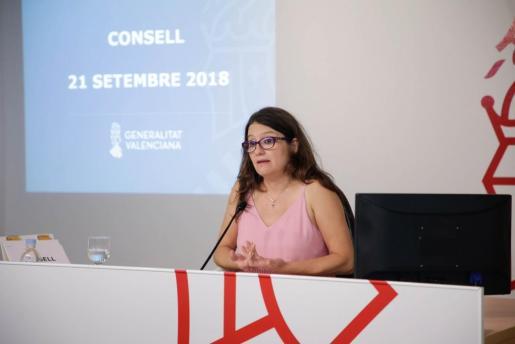 Mónica Oltra, vicepresidenta valenciana, ha aseverado que «es difícil hacer una valoración sin quebrarnos como sociedad».