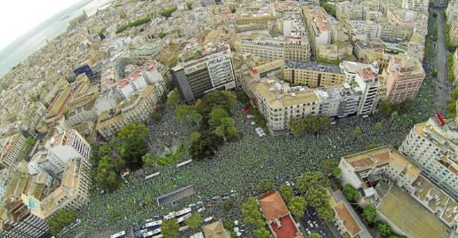 El 29 de septiembre de 2013 miles de personas se manifestaron en Palma contra la política educativa del Govern del PP.
