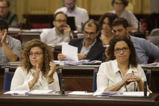Un momento de la sesión del Parlament celebrada este martes.