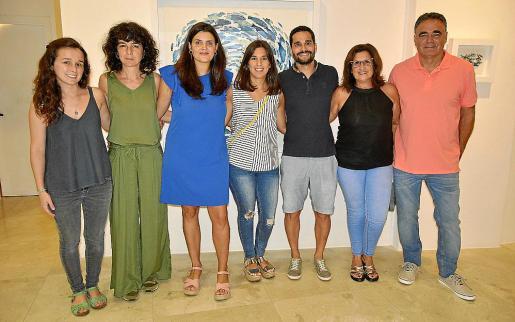 Maria Bennàssar, Cati Bennàssar, Joana Esteva, Sara Hernández, Javier Cànaves, Pilar Orejuela y Jaume Cànaves.